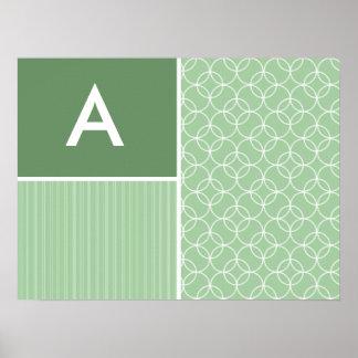 Sage Green Circles; Circle Print