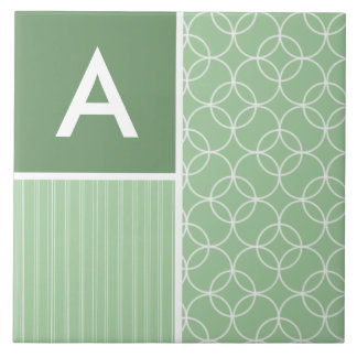 Sage Green Circles; Circle Ceramic Tiles