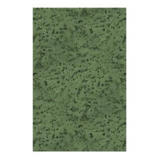 Sage Green Cork Look Wood Grain Custom Flyer