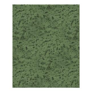 Sage Green Cork Look Wood Grain Full Color Flyer