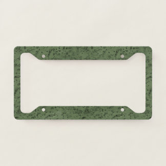Sage Green Cork Look Wood Grain Licence Plate Frame