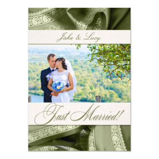 Sage Green Just Married Photo Announcement