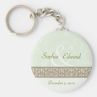Sage Green Ornamental Frieze Keychain