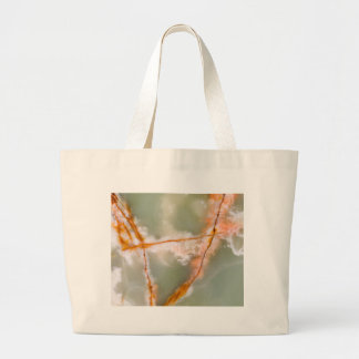 Sage Green Quartz with Rusty Veins Large Tote Bag