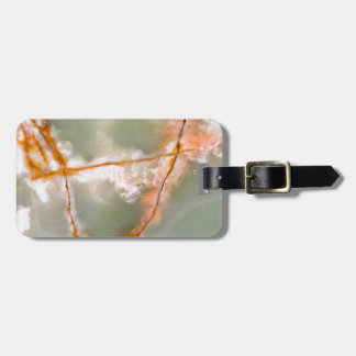 Sage Green Quartz with Rusty Veins Luggage Tag