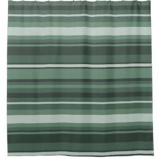 Sage green stripes shower curtain