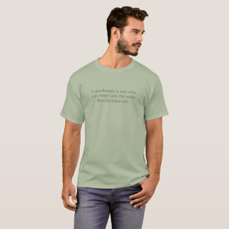 Sage green t-shirt, men's T-Shirt