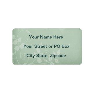 Sage Green Vintage Address Label