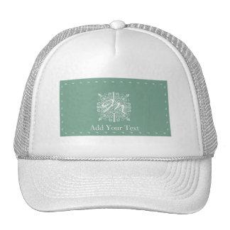 Sage Green Vintage Monogram Business Cap