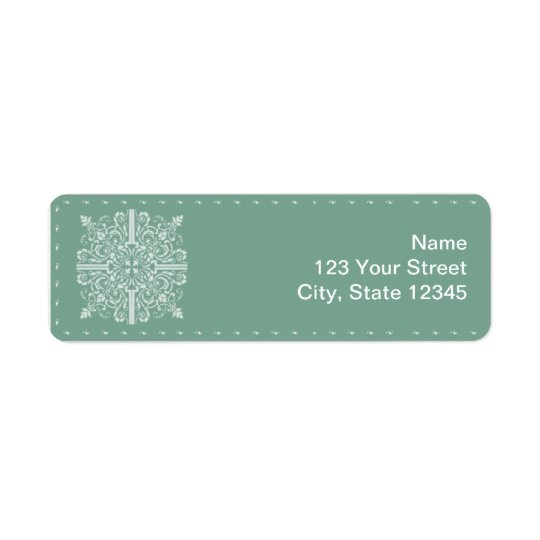 Sage Green Vintage Monogram Business Return Address Label