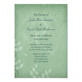 Sage Green Vintage Wedding Card