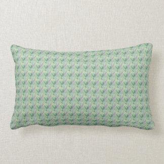Sage Green with Lavender Small Print Lumbar Pillow