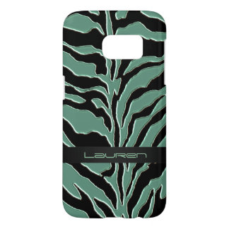 Sage Green Zebra Animal Print