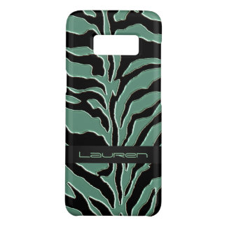 Sage Green Zebra Animal Print Case-Mate Samsung Galaxy S8 Case