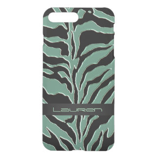 Sage Green Zebra Animal Print iPhone 7 Plus Case