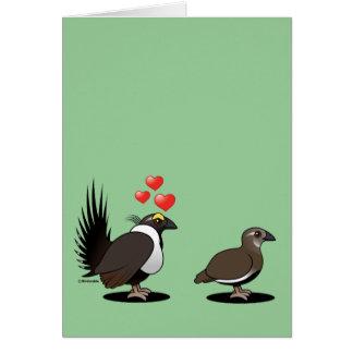 Sage Grouse Love Card