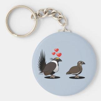 Sage Grouse Love Key Ring