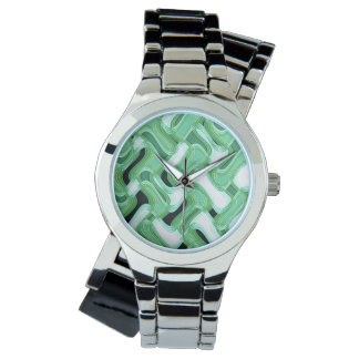Sage & Ivory Wraparound Silver Watch