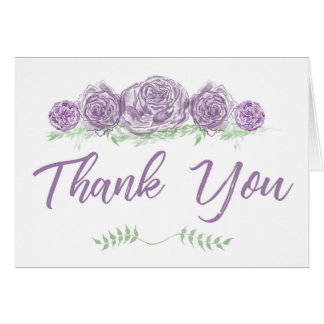 Sage & Lavendar Thank You Card