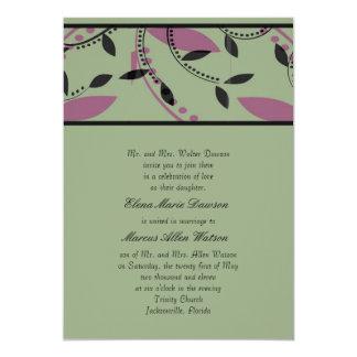 Sage Leaf Wedding Invitation