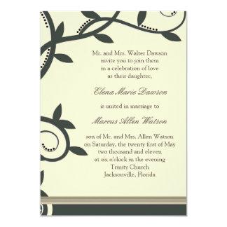 Sage Leafy Vine Wedding Invitation