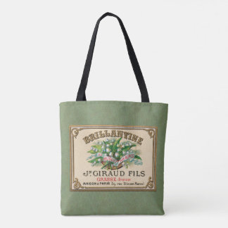 Sage Lily of the Valley French Perfume Tote Bag