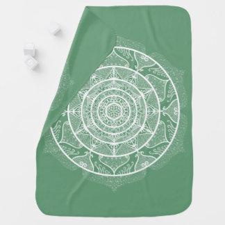 Sage Mandala Baby Blanket