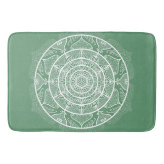 Sage Mandala Bath Mat