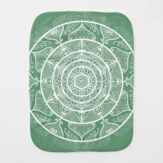 Sage Mandala Burp Cloth