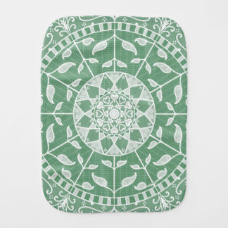 Sage Mandala Burp Cloth
