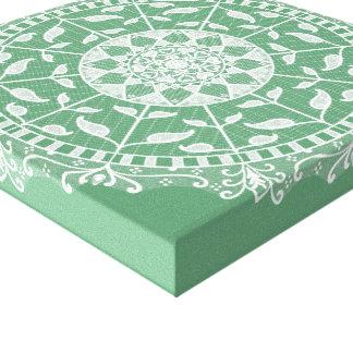 Sage Mandala Canvas Print