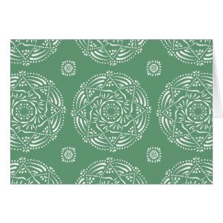 Sage Mandala Card
