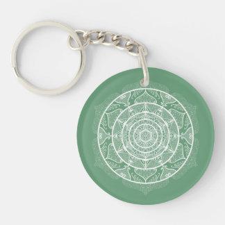 Sage Mandala Key Ring