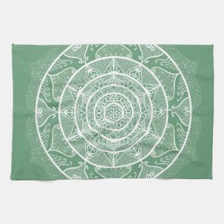 Sage Mandala Tea Towel