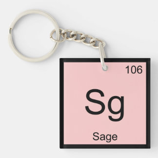Sage Name Chemistry Element Periodic Table Key Ring