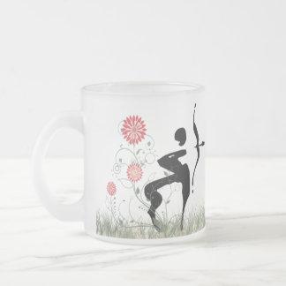 Saggitarius Frosted Glass Mug