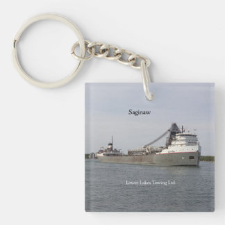 Saginaw acrylic key chain