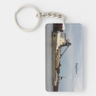 Saginaw rectangle acrylic key chain