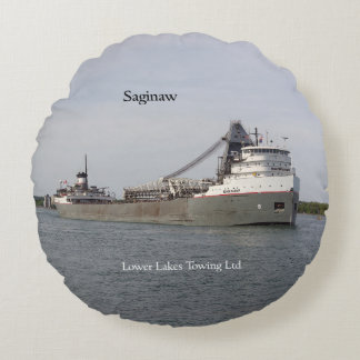 Saginaw round pillow