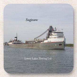 Saginaw set of 6 hard plastic coasters