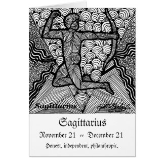 Sagittarious  (Zodiac sign) Greeting Card