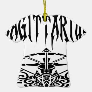 Sagittarius black letters.png christmas ornament