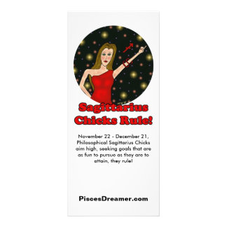 Sagittarius Chicks Rule! Personalized Rack Card