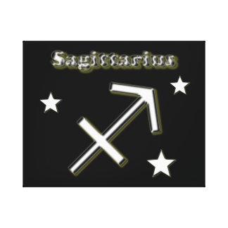 Sagittarius chrome symbol canvas print