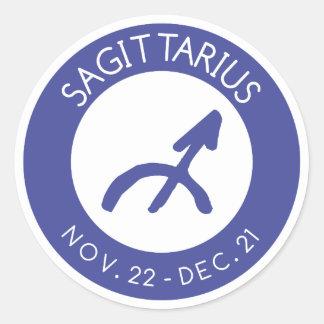 Sagittarius Classic Round Sticker