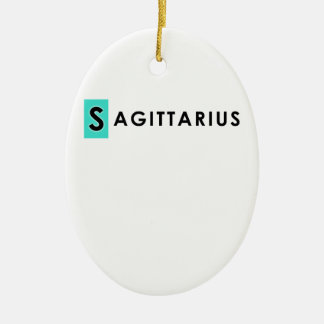SAGITTARIUS COLOR CERAMIC ORNAMENT