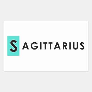 SAGITTARIUS COLOR RECTANGULAR STICKER