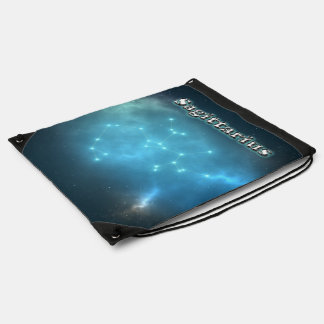 Sagittarius constellation drawstring bag