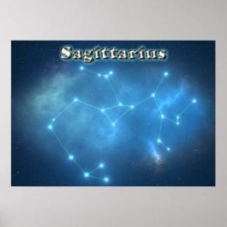 Sagittarius constellation poster