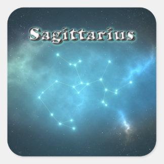 Sagittarius constellation square sticker
